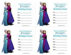 frozen free printable birthday party invitation d birthday