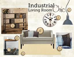 Industrial Chic Living Room Style Board  Inspiration Board - Industrial living room design ideas