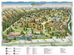 Maps Dallas by British Columbia Wildlife Park Visitor Map 9077 Dallas Drive