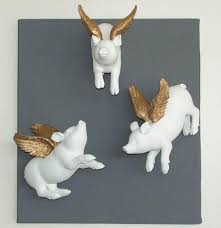 set of three flying pigs funny and cute wall ornaments u2013 home of