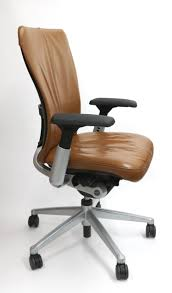 Haworth Chair Haworth Zody Chair In Leather Fully Adjustable Model In Camel