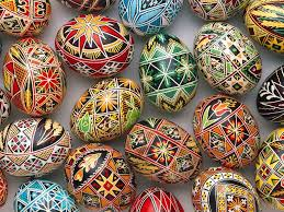 russian painted easter eggs in 1725 when was in st