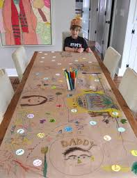thanksgiving plastic table covers kid made thankful table thankful thanksgiving table and create