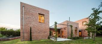 modern brick house modern brick home that merges with the garden digsdigs