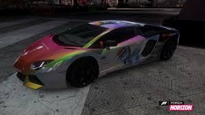 rainbow lamborghini forza horizon aventador paint job rainbow dash by gizmob on