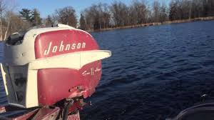 1957 johnson 7 5hp outboard motor youtube