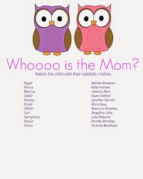 Modern Mommy Baby Shower Theme - whooo is the mother baby shower game baby showers ideas