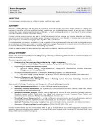 Sample Resume Hr by Technical Recruiter Sample Resume Maintenance Mechanic Sample