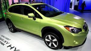 subaru xv green 2014 subaru xv crosstrek hybrid exterior and interior walkaround