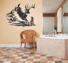 decal vinyl wall sticker deer running outdoor scene living