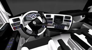 renault truck interior black white interior for renault magnum euro truck simulator 2 mods