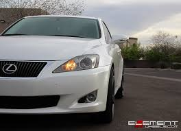 white lexus is 250 20 inch staggered vossen cv3 r concave gloss graphite on 2010