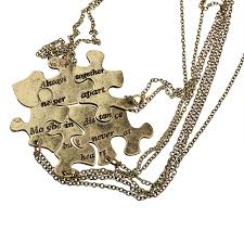 best friends puzzle necklace images Burnish gold always together puzzle best friends bff necklace jpg