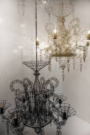 Adam Wallacavage Chandeliers For Sale by Angelus Shadow Black Wire Chandelier Lighting Lighting