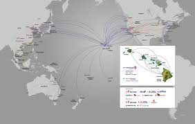 Alaska Air Route Map by Where We Fly Hawaiian Airlines
