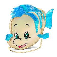 mermaid flounder crossbody purse thinkgeek