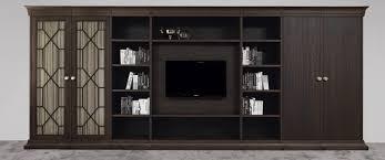 Tv Wall Cabinet Traditional Tv Wall Unit Wooden Biblioteka By Joe Gentile
