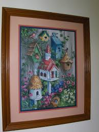 home interiors homco bird house u0026 flowers picture by barbara mock