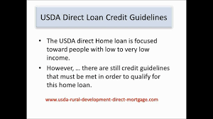 Usda Rual Development by Usda Direct Loan Credit Guidelines Youtube