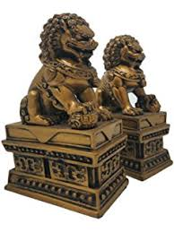 asian foo dogs fu dogs garden statues pair