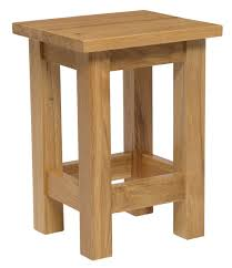 Small Side Tables by Waverly Oak Small Side Table In Light Oak Finish Solid Wooden