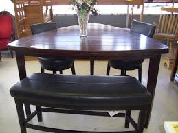 pub style dining room sets with triangle wooden dining table and 2