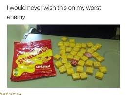 Starburst Meme - meme about getting all yellow starburst with a caption that says