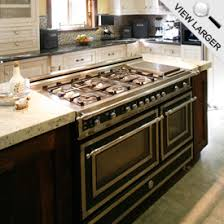 range in island kitchen bertazzoni heritage series ranges and hoods the official of