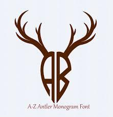margarita svg deer antler svg antler font svg antler alphabet digital letters