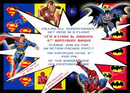 superhero birthday party invitations template best template