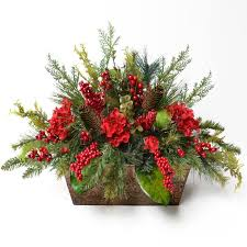 floral arrangements floral home decor pine and berry christmas floral arrangement