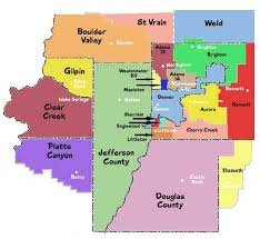 denver schools map districts greater denver metro areas coolorado