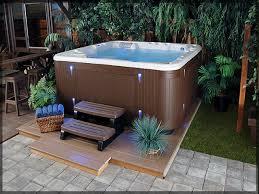 Backyard Idea by Bathroom Tub Ideas Tub In Backyard Ideas Jacuzzi Deck