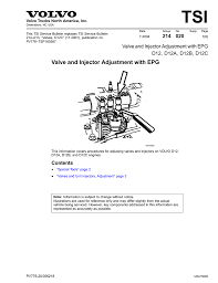 volvo corporate office greensboro nc valve injector adjustment with epg d12 d12a d12b d12c