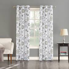 Hypoallergenic Curtains Big One 2 Pack Isabel Floral Medallian Window Curtains