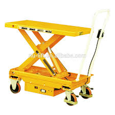 mobile electric hydraulic elevating lift table cart buy mobile
