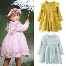 lace tutu party long sleeve dresses newborn 5t for girls ebay
