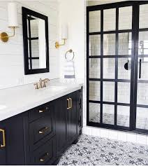 Tulum Tile Cement Tile Shop by Black And White Bathroom Beauty With Cement Tile Steel Frame