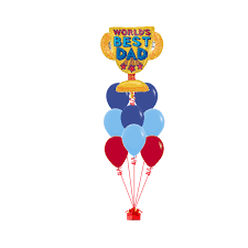 fathers day balloons worlds best trophy fathers day balloon bouquet go balloons