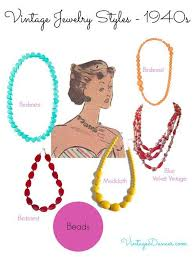 vintage necklace styles images 1940s jewelry styles and history 1940s fashion history jpg