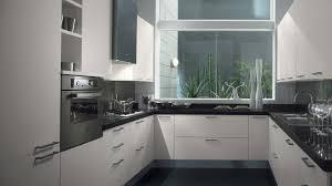 grey granite countertops staimless steel handles white kitchen
