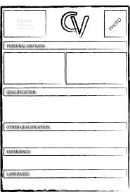 simple curriculum vitae word format curriculum vitae forms endo re enhance dental co