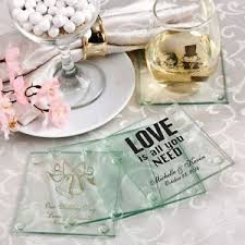 wedding favor coasters 150 personalized glass coasters display boxes wedding favors
