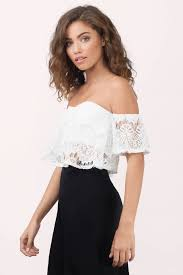 sleeve lace blouse ivory crop top white top top sleeve lace