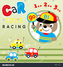 car toy clipart car toy racing cute bear vector stock vector 620362580 shutterstock