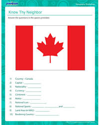 know thy neighbor u2013 fun geography worksheet for 4th graders