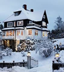 3 story houses exterior of a 3 story house in the winter pictures photos and