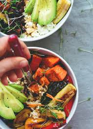 How To Make Roasted Vegetables by Brown Rice Salad Bowl With Roasted Veggies U0026 Tamari Dressing The