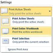 quick start print a worksheet in excel starter excel