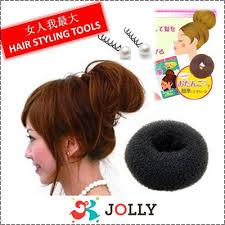cool hair donut qoo10 女人我最大 hair styling tools donut bun maker magic velcro